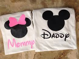 mommy and daddy minnie and mickey mouse shirts pink minnie