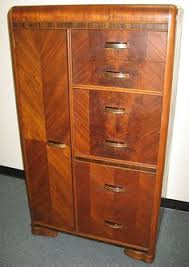 Armoire Chest Of Drawers Vintage 1930 Art Deco Bedroom Waterfall Furniture Armoire Closet