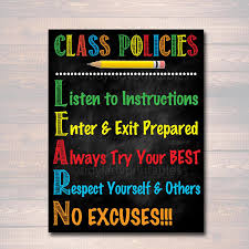 printable instructions classroom classroom decor classroom policies poster classroom rules