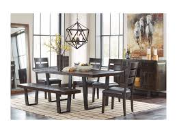 signature design by ashley parlone modern rustic large dining room