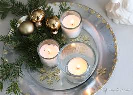 christmas decorating silver u0026 gold candle plate finding home farms