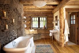 log cabin bathrooms rustic log shelves bathroom rustic with single sconces stone wall