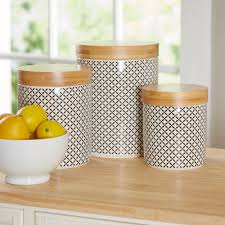 fashioned kitchen canisters wilshire 3 kitchen canister set reviews joss
