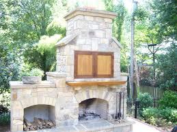beautiful design outdoor fireplace with tv winning three