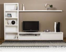 Wall Mount Tv Cabinet White Lacquered Bookcase Wall Tv Cabinet Design Simple Home