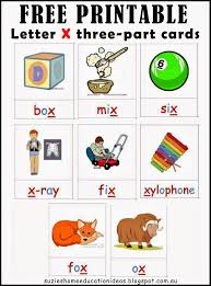 letter x printable cards and activity ideas classroom