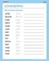 Sight Words Worksheets Printable Sight Words Printable Worksheets For 1st Graders Jumpstart