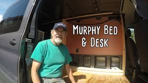 Cargo Van Desk Cargo Van Conversion Murphy Bed Frame Part Five Youtube