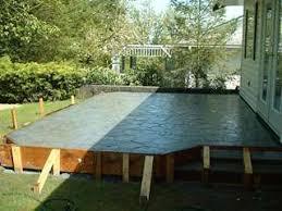 contemporary raised concrete patio designs ideas design with steps