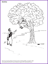 zacchaeus story and maze korner biblewise