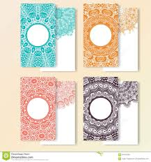 Business Invitation Card Format Set Of Cards Ornate Design Can Used For Invitation Greeting Or