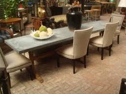 Oak Table L 10 L Rectangular Zinc Top Dining Table With Reclaimed Oak