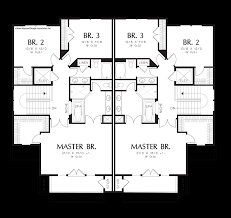 Multifamily Plans by Mascord House Plan 4041 The Prairiefire