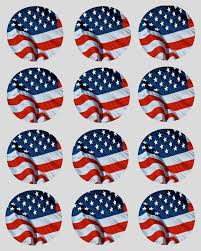 american flag cupcake decoration toppers usa
