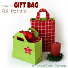 christmas gift bag fabric gift bag pattern for christmas applegreen cottage