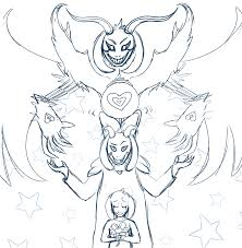 asriel dreemur all forms sketch by rainbowvoid on deviantart