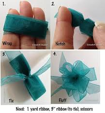 tying gift bows and easy diy tutorial on how to tie a ribbon bow neat