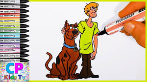 scooby doo and shaggy coloring pages for kids 4 scooby doo