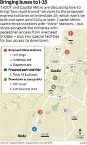 Austin Metro Rail Map by Capital Metro Faces 18 Million Decision Over I 35 Bus Stops