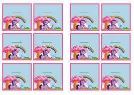 printable my little pony birthday invitations free printable