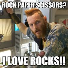 Funny Rock Memes - rock paper scissors i love rocks prometheus geologist