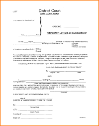 Sample Of Legal Guardianship Letter by 12 Sample Letters Of Temporary Guardianship Ledger Paper Cover