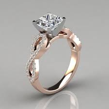 design an engagement ring infinity design princess cut engagement ring puregemsjewels
