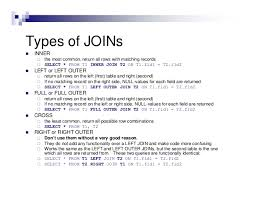 sql query join tutorial sql joins and query optimization