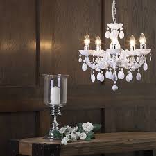 Marie Chandelier Marie Therese 5 Light Dual Mount Chandelier White