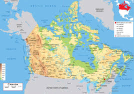 Map Of Canada A Map Of Canada Great Salt Lake Map Map Of Chesapeake Bay