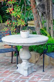 Composite Patio Table Palm Stump Umbrella Table