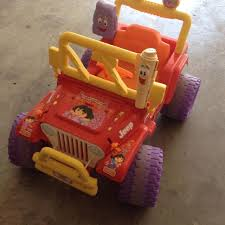 small jeep for kids find more weekend sale 50 dora jeep motorized kids vehicle guc