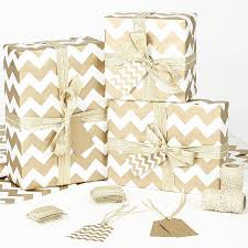 gold chevron white wrapping paper wrapping