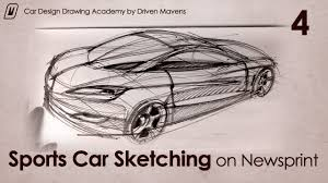 sketching cars on newsprint paper youtube