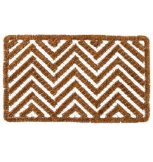 Exterior Door Mat Chevron Wire Brush Doormat Rejuvenation