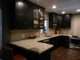 Used Kitchen Cabinets Ontario Travertine Countertops Kitchens With Espresso Cabinets Lighting