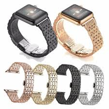 diamond stainless steel bracelet images For apple watch band crystal rhinestone diamond watch band luxury jpg