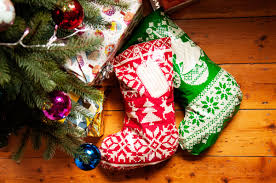 christmas stockings send gifts in stocking shaped mail bags