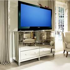 decor u0026 tips living room design with mirrored media console and