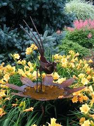 large standing cranes herons outdoor metal ornaments stainless