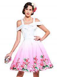 vintage dresses plus size party dresses white floral print 60s