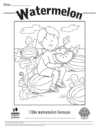 food hero free printable children u0027s coloring sheet watermelon