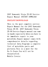 28 2007 zx6r service manual 101642 kawasaki zx6r ninja 1998
