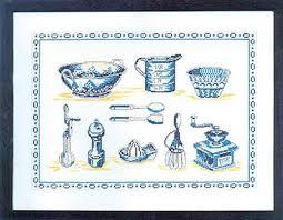point de croix cuisine kit point de croix imprimé les ustensiles de cuisine