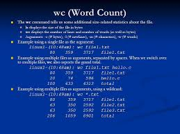 Count No Of Words In Unix The Command Line Part Ii Pine And Pico Cmsc 121 Introduction To