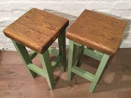 hand painted kitchen islands set of 4 hand painted f u0026b handmade reclaimed solid wood pine