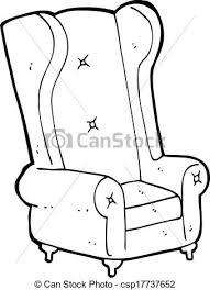 Cartoon Armchair Clipart Vector Of Cartoon Old Armchair Csp17737652 Search