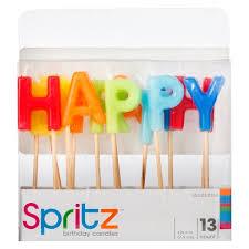 birthday candle 13ct happy birthday birthday candle spritz target