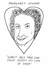 seven valentines of badly drawn authors to give to your friends