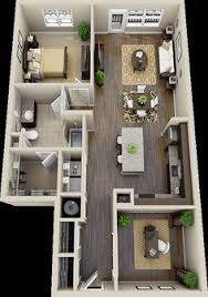 One Room Cottage Floor Plans 2 Bedroom House Plans 3d Google Search House Plans Pinterest